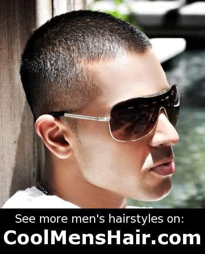 Picture of Jay Sean buzz hairstyle for male.