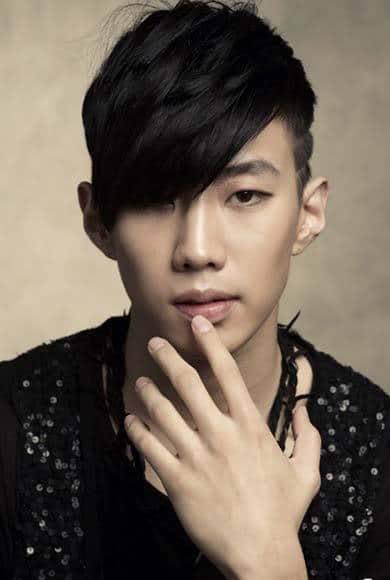 Image of Park Jaebeom bangs hairstyle.