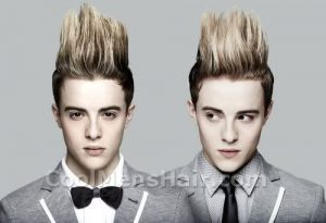 Jedward highlighted quiffs