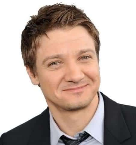 Picture of Jeremy Renner textured hairstyle.