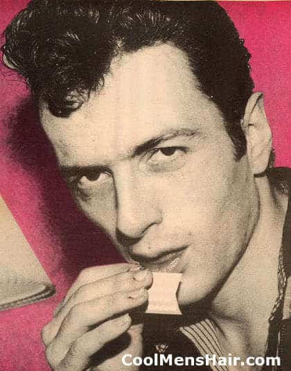 Picture of Joe Strummer Pompadour hairstyle for young men.