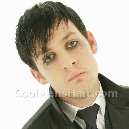 Image of Joel Madden side bangs hairstyle.