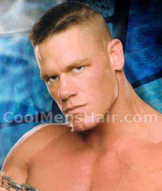 Photo of John Cena crew cut.