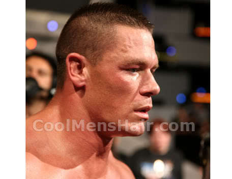 John Cena military haircut photo.