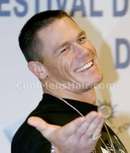 Image of John Cena military hairstyle.