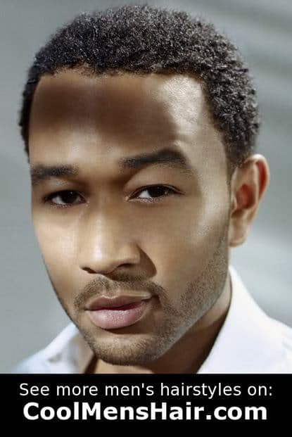 Picture of John Legend naturally curly hairstyle.