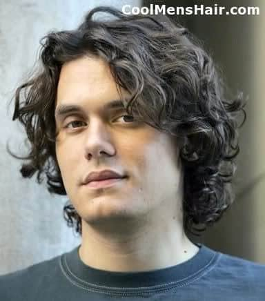 Photo of John Mayer natural curl hair.