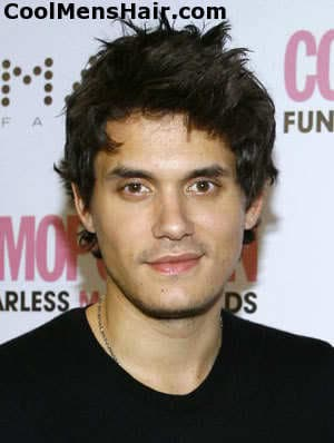 Picture of John Mayer hairstyle.
