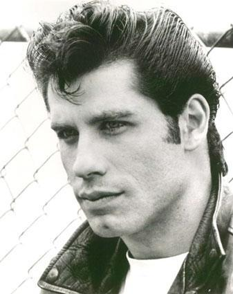 John Travolta's Pompadour Hair.