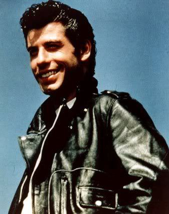 John Travolta's rockabilly style.
