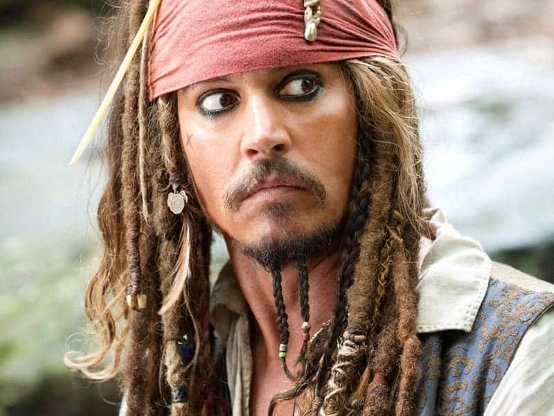 Johnny Depp's dreadlock hairstyles