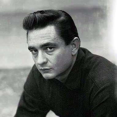 Image of Johnny Cash pompadour hairstyle.