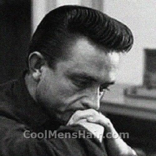 Image of Johnny Cash pompadour hair.