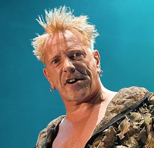 Photo of Johnny Rotten Sex Pistols punk hair.