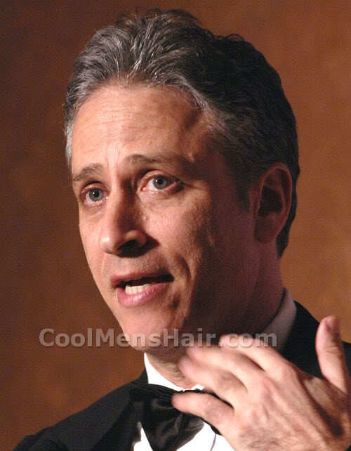 Picture of Jon Stewart hairstyle.