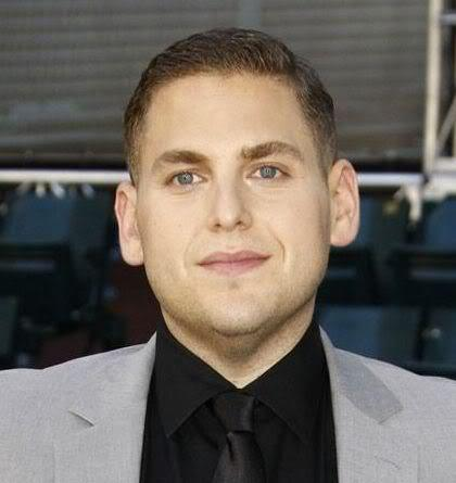 Picture of Jonah Hill crew cut hairstyle.