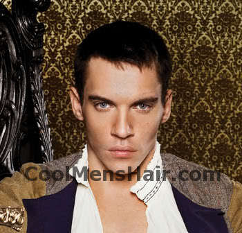 Pic of Jonathan Rhys Meyers conservative short hairstyle.