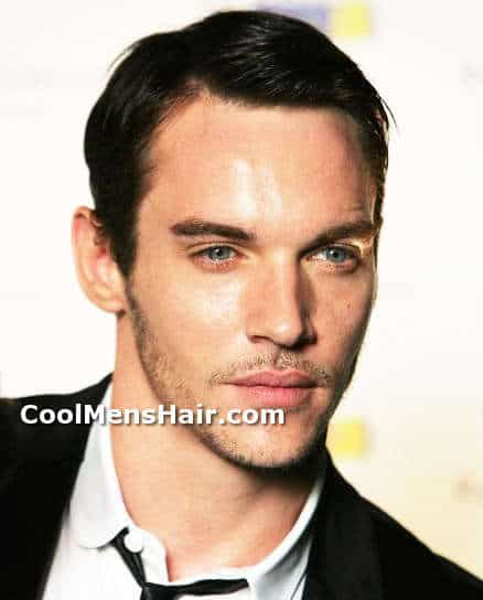 Photo of Jonathan Rhys Meyers conservative formal hairstyle.