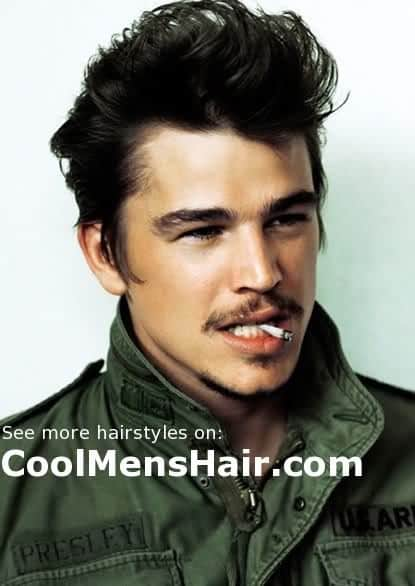 Pic of Josh Hartnett pompadour hairstyle.