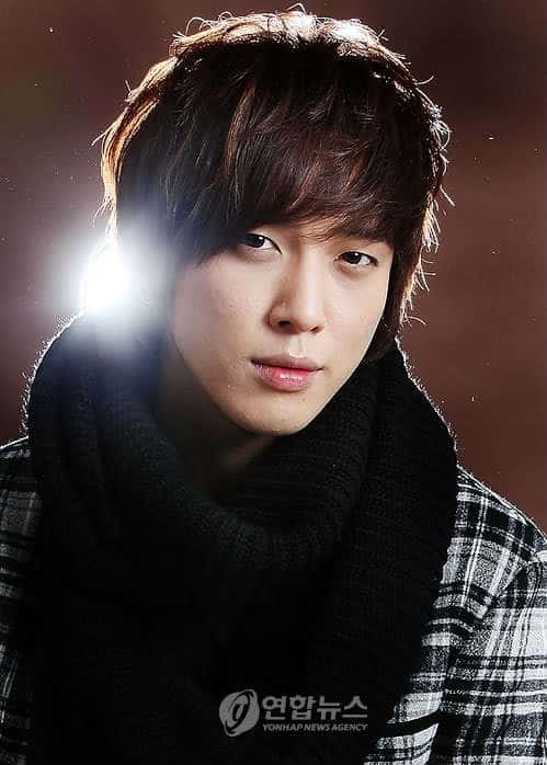 Jung Young Hwa casual hairstyle.