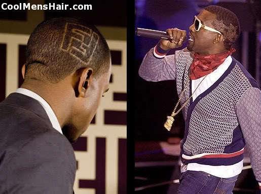 Image of Kanye West hairstyle.