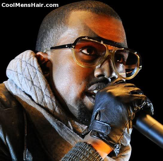 Picture of Kanye West short hairstyle.