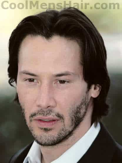 Keanu Reeves long hairstyle.
