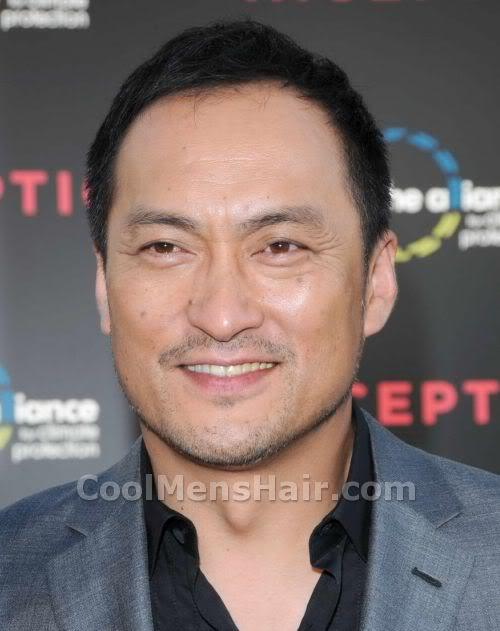 Picture of Ken Watanabe short hairstyle.