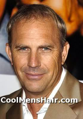 Picture of Kevin Costner short hair.