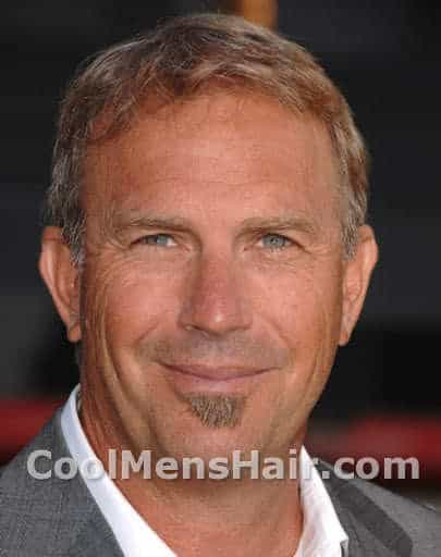 Photo of Kevin Costner hairstyle.
