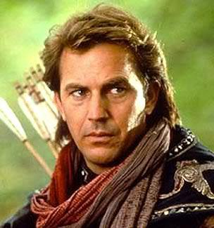 Image of Kevin Costner hairstyle in his role of Robin Hood.
