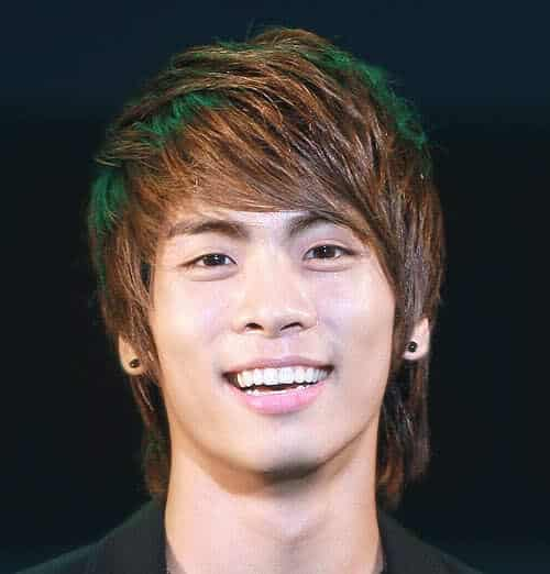 Photo of Kim Jonghyun hairstyle.