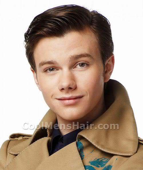 Picture of Chris Colfer short formal hairstyle.