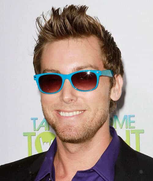 Image of Lance Bass hairstyle.