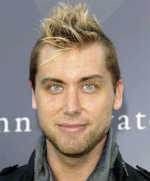 Image of Lance Bass mohawk hairstyle.