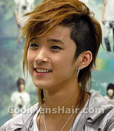 Picture of Lee Jae Jin undercut hairstyle.
