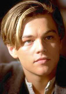 Leonardo DiCaprio long bangs hair
