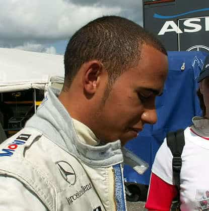 Lewis Hamilton buzz cut hairstyle
