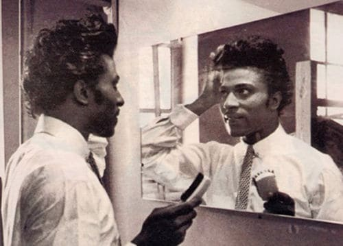 Picture of Little Richard 1950s hairstyle.