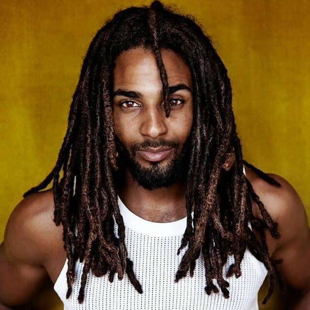 black men Long Braid Hairstyle