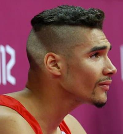 Photo of Louis Smith hair with shaved sides and back.