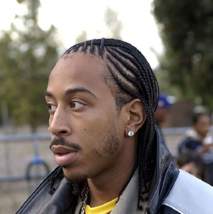 popular rapper's braided hairstyle