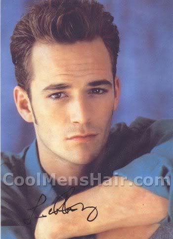 Picture of Luke Perry hairstyle for men.