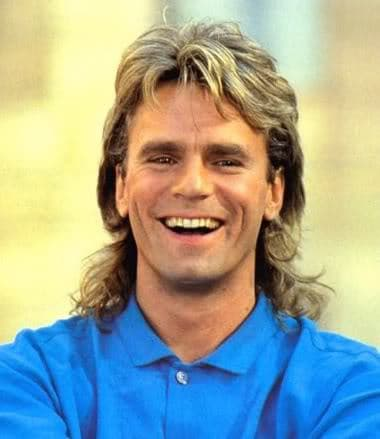 Picture of hot mullet haircuts from MacGyver