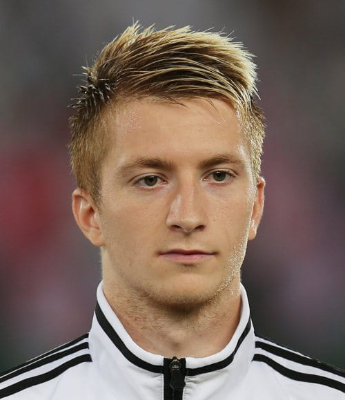 Marco Reus hairdo. Photo by Michael Kranewitter.