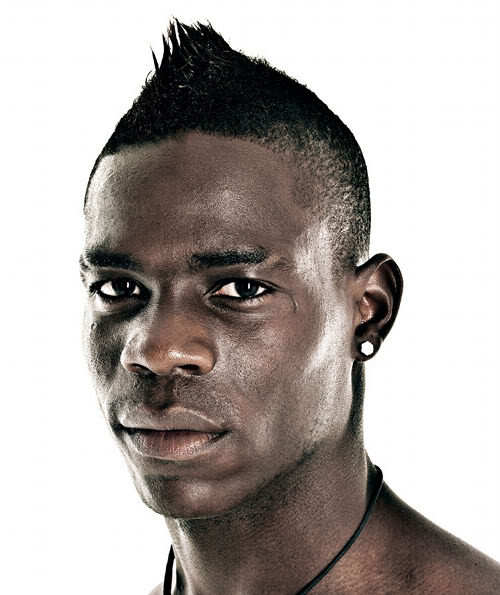 Photo of Mario Balotelli mohawk hairstyles.