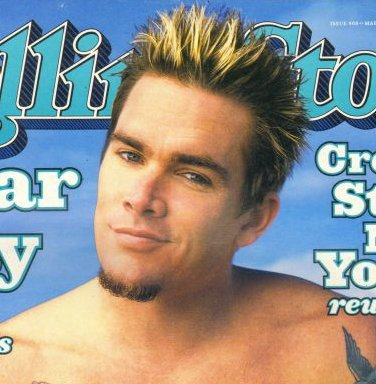 Photo of Mark McGrath spiky hairstyle.