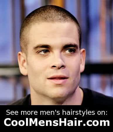 Picture of Mark Salling male buzz cut.