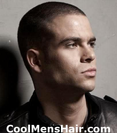 Photo of Mark Salling buzz hairstyle for men.