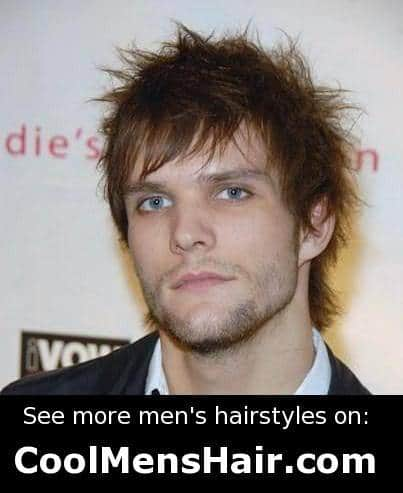 Martin Johnson messy hairstyle for men.
